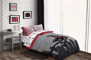 Miles Morales Spiderman 7pc Queen Comforter, Sheets & Shams 7 Piece Bed In A Bag