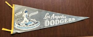 """Very Rare Vintage Los Angeles Dodgers 1959 """"World Champions"""" Pennant"""
