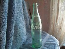 1 Pint (16 oz.) Vintage Coca Cola Coke Green Glass Tall Bottle DEFIANCE,OHIO