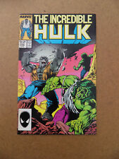 Incredible Hulk 332 . Grey Hulk & Leader .Mc Farlane . Marvel 1987 . VF -  minus