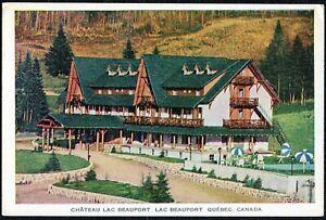 Vintage Postcard, Chateau Lac Beauport, Lac Beauport, Quebec, Canada