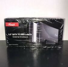 "3.5"" SATA TO USB & eSATA External Enclosure, New Still in box RX35-AT-SC BLK"