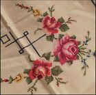Vintage Hand Embroidered Tablecloth  171x254