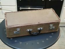 More details for vintage trumpet case, beige with green velvet lining, upcycle, theatre prop