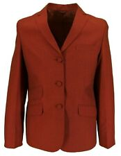 Ladies Relco Tonic Retro Mod Burgundy/Black Short Jackets