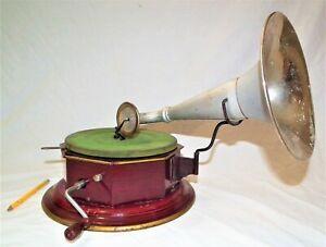 RARE BING BINGOPHONE TABLE TOP PHONOGRAPH GRAMOPHONE 78 RPM SMALL RECORD PLAYER