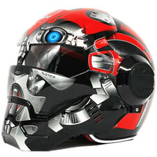 War Machine Bumblebee Men Iron Man Red Motorcycle Helmet Half Helmet Open Face
