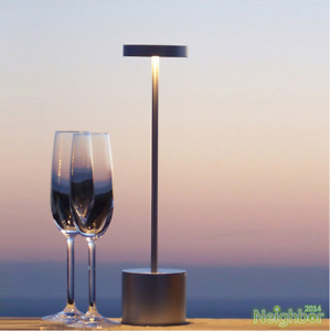 Cordless Bar Table Lamps Rechargeable Battery Light Restaurant Bedroom Fixtures