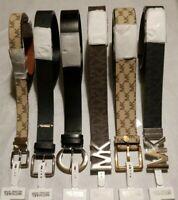 NEW Michael Kors MK Logo BELT - Black Chocolate Tan Wide Narrow style Belts nwt