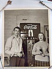 Photo Coca-Cola Original 8 x 10 Vending Machine & Teenagers 1950s Rutland VT