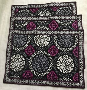 VERA BRADLEY PLACEMATS SET OF 3 - CANTERBERRY MAGENTA