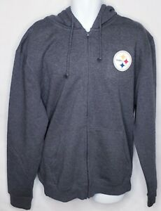 Mens Pittsburgh Steelers Full Zip Hooded Jacket Size XL Grey NWT Pittsburgh