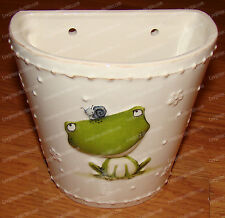 Frog Wall Pocket, Planter (Stacey Yacula Joyful Garden, 4050794) Stoneware