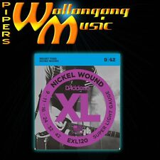 D'Addario EXL120 Super Light 9-42 Electric Guitar Strings Set 9/42 Nickel Wound