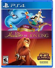 DISNEY CLASSIC GAMES ALADDIN + LION KING PS4 NEW! SNES, GENESIS, GAMEBOY
