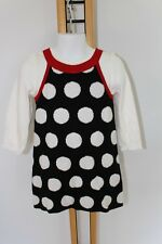Gymboree Winter Penguin Girls Size 2T Polka Dot Black Sweater Dress Shirt NWT