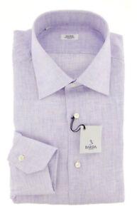 New Barba Napoli Lavender Purple Shirt - Slim - 16/41 - (D2U10T0000P18)