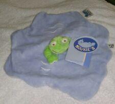 Noukie's Tidou Doudou Blue Boy Frog  Security Blanket Lovey New