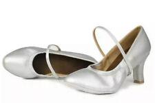 Roymall- Women's Silver 5.5US Latin Dance Ballroom Performance Shoes
