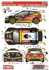 """1/24 Ford Fiesta 2014 Rally Mexico #21 """"Jipocar"""" decal set by Studio 27 ~ DC1085"""