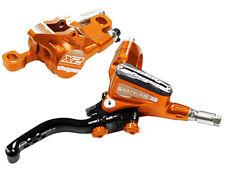 Hope Tech 3 X2 Orange Front & Rear Black Hose Brake Set w/ Floating Rotors New