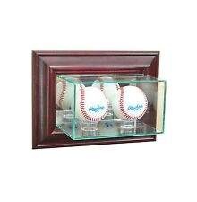 Wall Mounted Double Baseball Glass Display Case MLB Free Shipping Made in USA