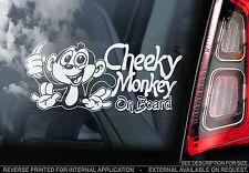 Cheeky Monkey On Board - Car Window Sticker - PERSONALISE: Baby, Child, Kids...