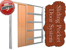 """SINGLE  SLIDING  DOOR  SYSTEM  WITH  FULL JAMB 100 mm WHITE like """"  ECLISSE  """""""