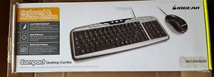 Iogear Compact Keyboard and Mouse Desktop PC Computer Combo #GKM502