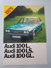 AUDI PROGRAMM 1975 AUDI 100 L LS GL  NR. 598 / 11900400 AUS 1/75
