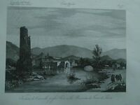 1845 Zuccagni-Orlandini Veduta di Cornello presso Sora Provincia Terra di Lavoro