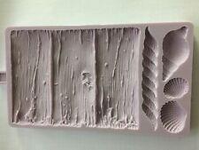 Karen Davies Rustic Driftwood Shells & Rope Mould Sugarcraft Cake Decorating