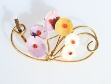 BROOCH vintage, beautiful, bouquet, colors, soft .. ..