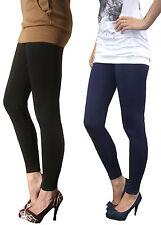 EXTRA LONG Leggings HIGH Waist Womens Cotton stretch  8 - 28
