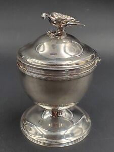 Peter & Ann Bateman George III Sterling Silver Sugar Vase & Cover w/ Bird Finial
