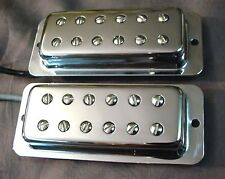 SET OF CHROME TOP MOUNT HUMBUCKING GUITAR PICKUPS - 12 ADJ.POLES - PICKUP SET
