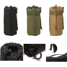 Military Molle Water Bottle Bag Kettle Pouch Holder Camping Equip Outdoor Black