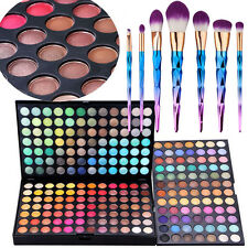 252 Silky Shine Color Professional Makeup Eyeshadow Palette 7Pcs Cosmetic Brush