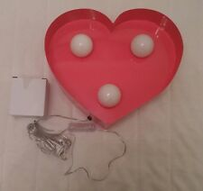 Pink heart metal light,new,next