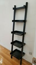 "Black Leaning Latter Style Wood Bookshelves 22.5"" W x 72""H"
