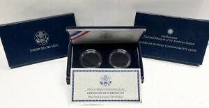 2001 P&D Silver Buffalo Commemorative Box W/ OGP, COA, & CAPSULES - NO COINS