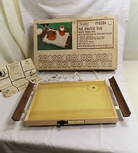 Vintage Mid-Century Atomic Sears and Roebuck Electric Food Warming Plate Tray