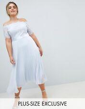 NEW Coast Plus Imi Lace Maxi Dress, Blue, Size 18, RRP £149