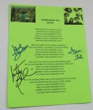 Jefferson Airplane Signed Lyrics Somebody To Love Grace Slick Paul Kantner Balin