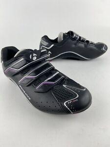 Bontrager Inform Women's Race Road Cycling Shoes Size 6.5 Black Purple EUC WSD