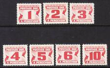 CANADA POSTAGE DUE #J21-J27 SET/7, 1967, MNH
