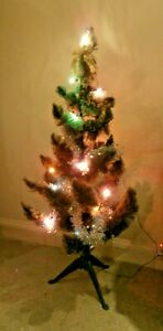 4ft Vintage Alpine Artificial Traditional Realistic Christmas Xmas Tree & lights