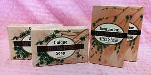 Aftershave Lotion Bath Soap Huon Pine (double set) Men's Shower Shave Products