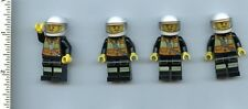 LEGO x 4 Minifig Fire Reflective Stripe Vest with Pockets and Shoulder Strap