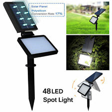 Solar Powered 48 LED Spot Lamp Floodlights Landscape Walkway Outdoor Light BR
